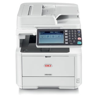 Oki MB492 LED Multifunction Printer - Monochrome - Plain Paper Print