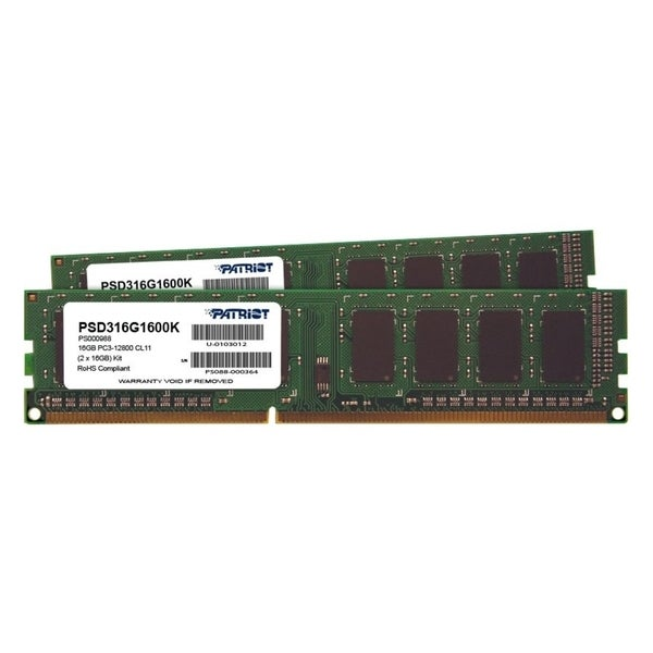 Patriot Memory Signature DDR3 16GB (2 x 8GB CL11 PC3-12800 (1600MHz)