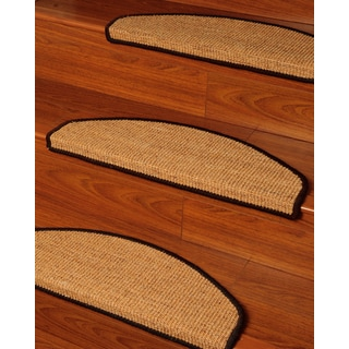 Natural Area Rugs Handcrafted Domino Euro Brown Sisal Carpet Stair Tread ('9 x 2'5) (Set of 13)