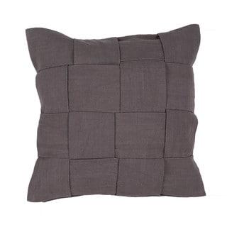 Handmade Cotton Gray 22-inch Throw Pillow