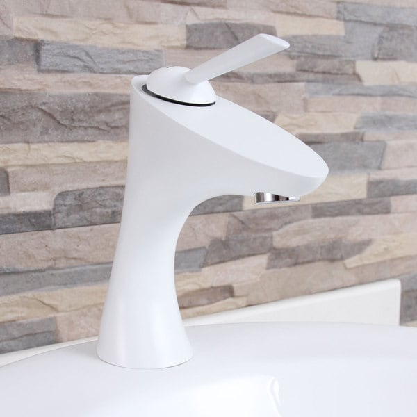 White Faucet Bathroom : Elimax F662013WH White Bathroom Sink Faucet - Overstock Shopping ...