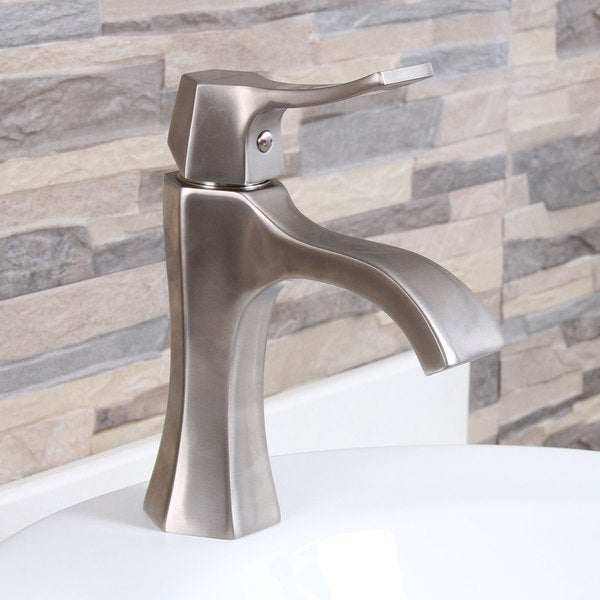 Waterfall Bathroom Sink Faucet Brushed Nickel : Brushed Nickel Bathroom Sink Waterfall Faucet - Overstock? Shopping ...