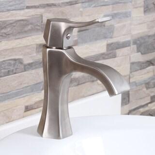 Brushed Nickel Bathroom Sink Waterfall Faucet