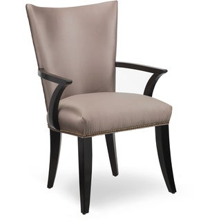 Cosmopolitan Parchment Upholstered Arm Chair