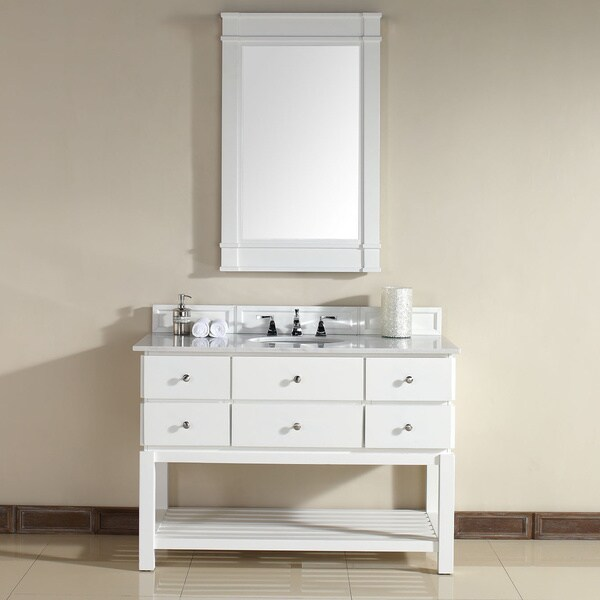 andover white 48 inch single vanity overstock shopping great