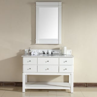 Andover White 48-inch Single Vanity