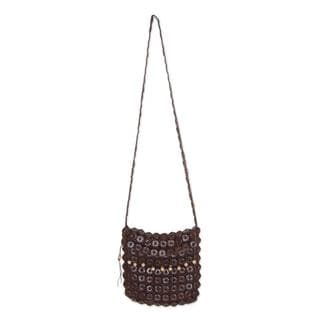 Handcrafted Coconut Shell 'Eco Nature' Shoulder Bag (Thailand)