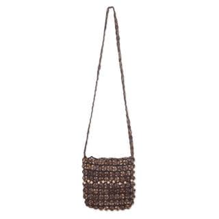 Handcrafted Coconut Shell 'Eco Buttons' Shoulder Bag (Thailand)