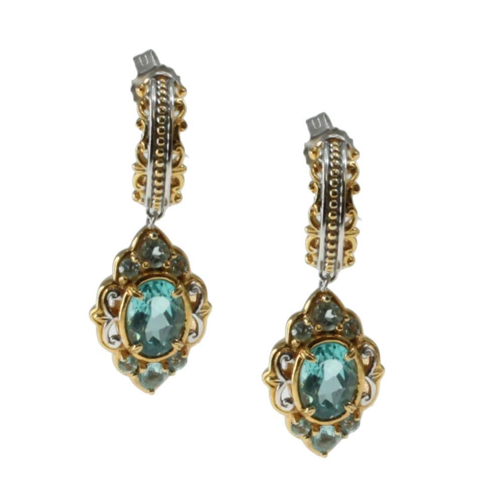 Michael Valitutti Palladium Silver Apatite Earrings at Sears.com
