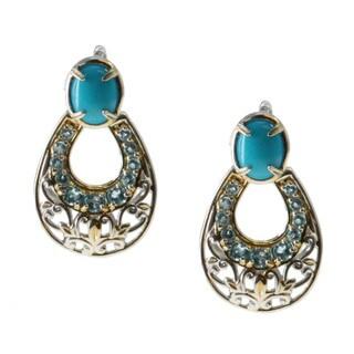 Michael Valitutti Sleeping Beauty Turquoise Door Knocker Earrimgs