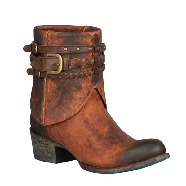 Lane Boots Women's 'Dove' Honey Leather Above-ankle Western Boots