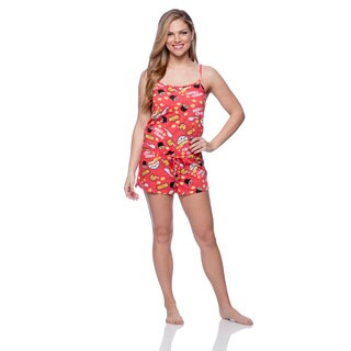 David and Goliath Women's Miso Cray Red Romper