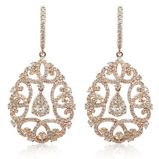 JYOSH 14k Rose Gold 3ct TDW Diamond Earrings (I-J, SI1-SI2)