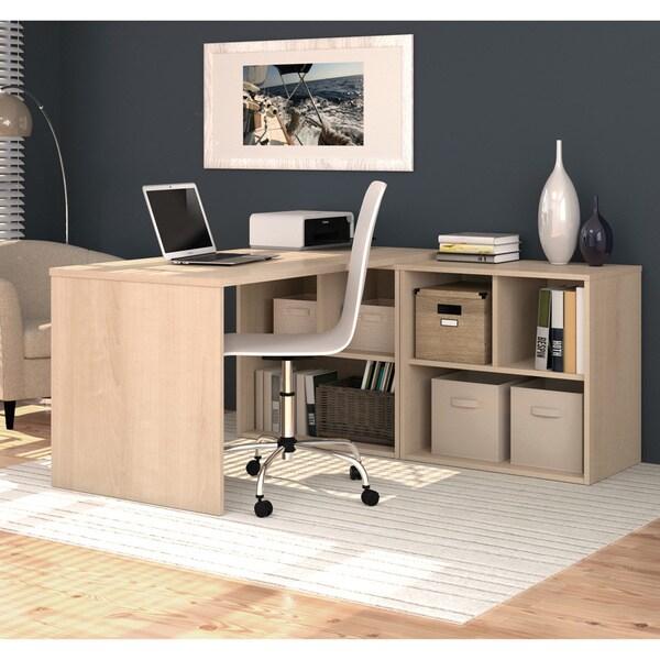 I3 By Bestar L Shaped Storage Desk 16913969 Overstock