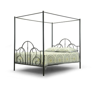 Baxton Studio Monticello Metal Contemporary Queen-Size Canopy Bed Frame