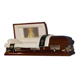 Official Vatican Foundation Immaculate Heart I Walnut Poplar Casket