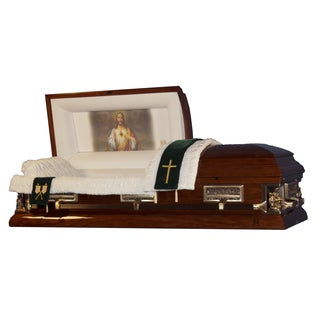 The Official Vatican Foundation Sacred Heart I Walnut Poplar Casket