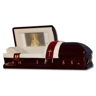 The Official Vatican Foundation Immaculate Heart I Mahogany Casket