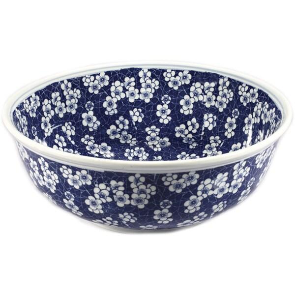 Blue And White Vessel Sink : Legion Furniture Blue/ White Porcelain Floral Sink Bowl - 16914066 ...
