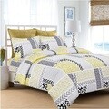 Patchwork Printed Flannel 170 GSM Luxury 3-piece Duvet Cover Set