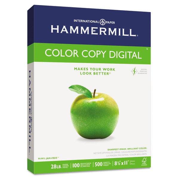Hammermill Photo White 8 1/2 x 11 Copy Paper (500 Sheets)