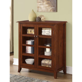 Collins Collection Medium Storage Cabinet in Mahogany Brown