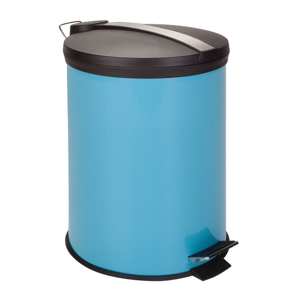 12-Liter Round Step Can, Blue (Alternate lid)