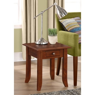 WYNDENHALL Collins Medium Mahogany Brown 19-inch Square End Table