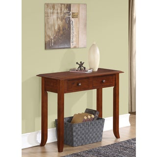 WYNDENHALL Collins Medium Mahogany Brown Console Table