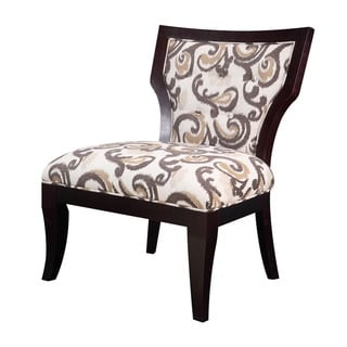 Madison Park Rue Hourglass Exposed Wood Armless Chair