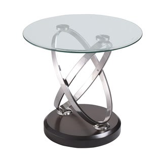 Contemporary Vision Glass Top End Table