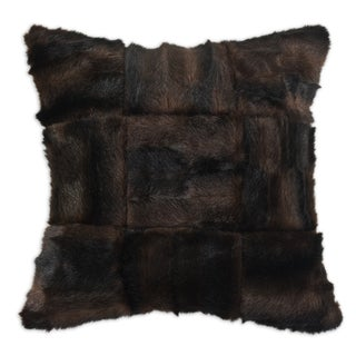 Taline Faux Fur Tic-Tac Decorative Pillow
