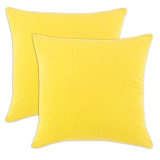 Spring Yellow 17-inch Decorative Throw Pillows (Set of 2)
