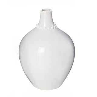 White 3.9-inch Ceramic Vase (Pack of 2)