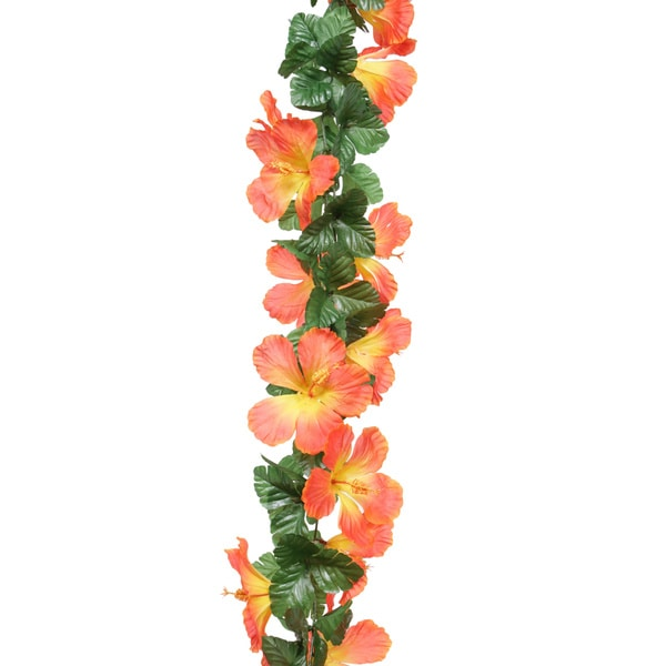 6-foot Hibiscus Chain Garland (Pack Of 12)