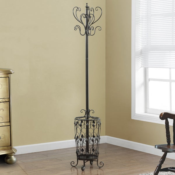 Chocolate Brown Metal 72-inch Coat Rack