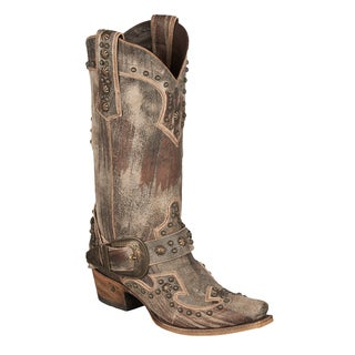 Lane Boot Women's 'Your Harness' Brown Cowboy Boot