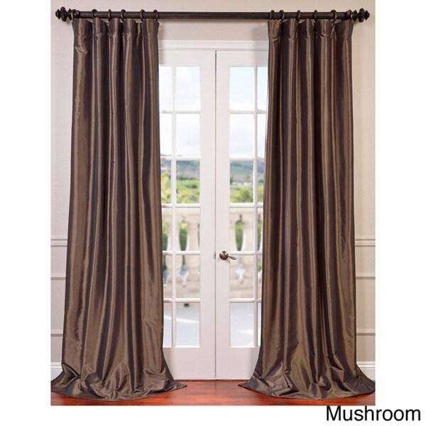 Faux silk taffeta 120 inch blackout curtain panel for 120 inch window sheers