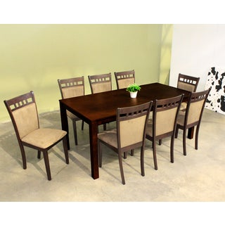 Warehouse of Tiffany Shirlyn Smoke Brown 9-piece Dining Set