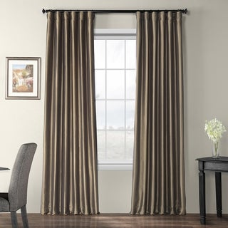 Faux Silk Taffeta 96-inch Blackout Curtain Panel