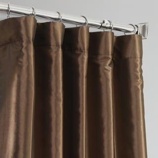 Faux Silk Taffeta 84-inch Blackout Curtain Panel
