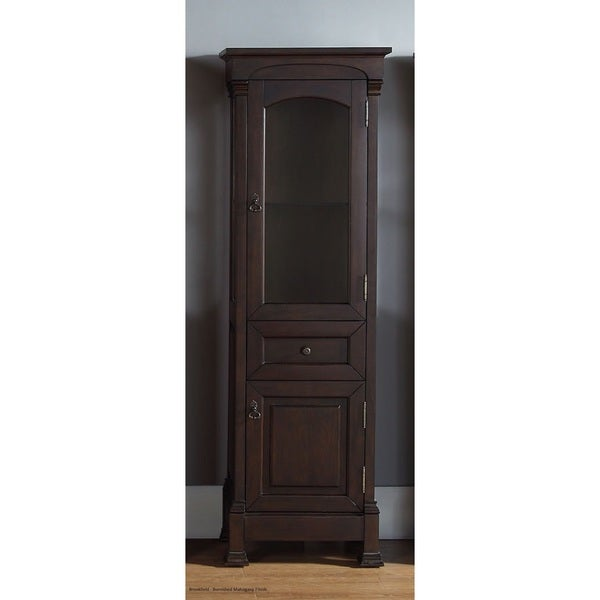 Mahogany Bathroom Floor Cabinet : Brookfield burnished mahogany linen cabinet