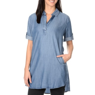 Chelsea & Theodore Chambray Shirt Dress