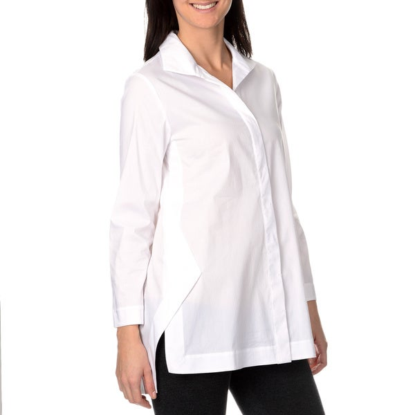 Chelsea & Theodore Women's Envelope Side Slit Shirt