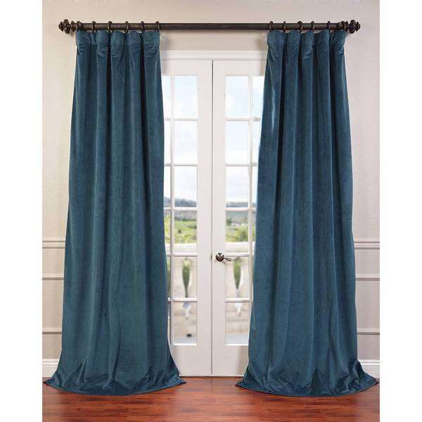 Eff Signature Velvet 120 Inch Blackout Curtain Panel