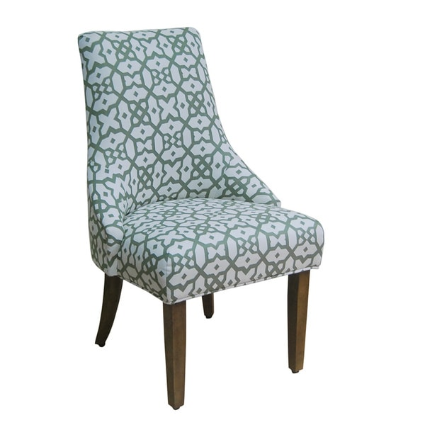 Homepop Green White Woven Lattice Accent Chair Set Of 2