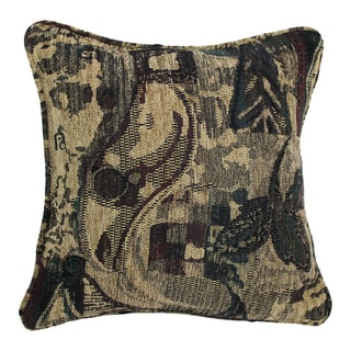 Blazing Needles 18-inch 'Antiquity' Jacquard Chenille Square Throw Pillow with Insert