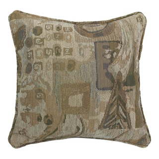 Blazing Needles 18-inch 'Wind Song' Jacquard Chenille Square Throw Pillow with Insert