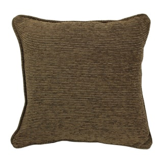 Blazing Needles 18-inch 'Vermont' Jacquard Chenille Square Throw Pillow with Insert