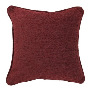 Blazing Needles 18-inch 'Bordeaux' Jacquard Chenille Square Throw Pillow with Insert